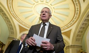 Senate minority leader Harry Reid, one of the senators who has demanded Republicans reconvene Congress for Zika funding. Photograph: Manuel Balce Ceneta/AP