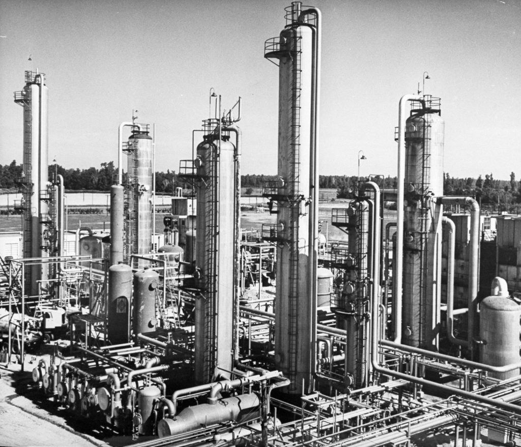 Anhydrous ammonia plant, ca. 1954. ROBERT W. KELLEY/TIME & LIFE PICTURES/GETTY IMAGES