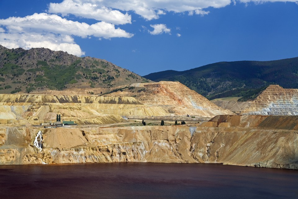 The toxic lake left behind after the Berkeley Pit copper mine shut down.